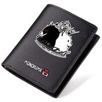 Danganronpa Monokuma Black And White Bear Cartoon Wallets Short Style PU Leather Cartoon Anime Student Holders