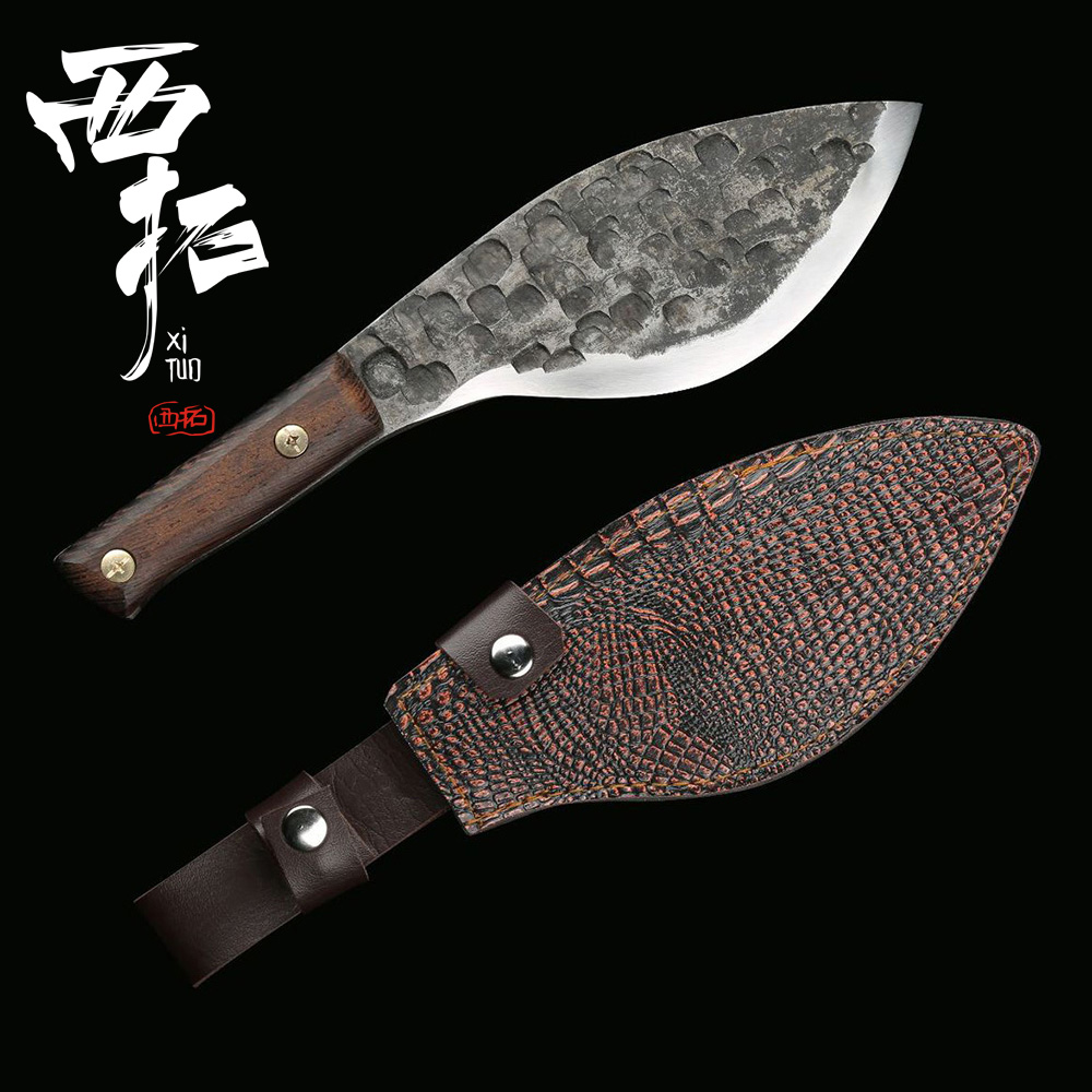 carbon steel kitchen knives xituo high carbon steel handmade knife chef butcher cut