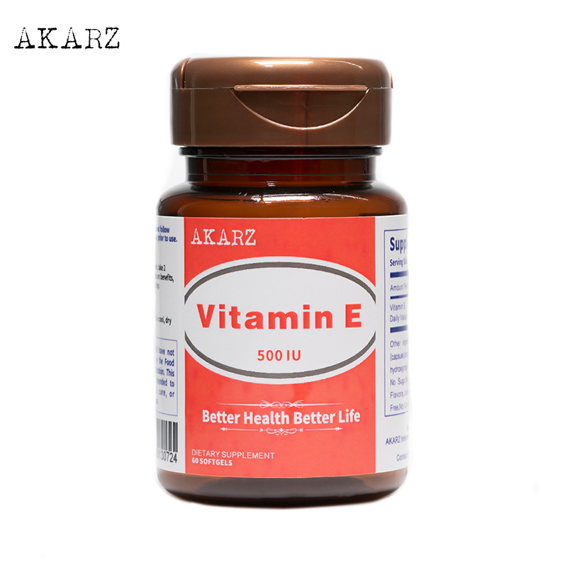 AKARZ Famous Brand Vitamin E Potent Antioxidant That Supports Immune Health Anti-Aging Whitening 500IU