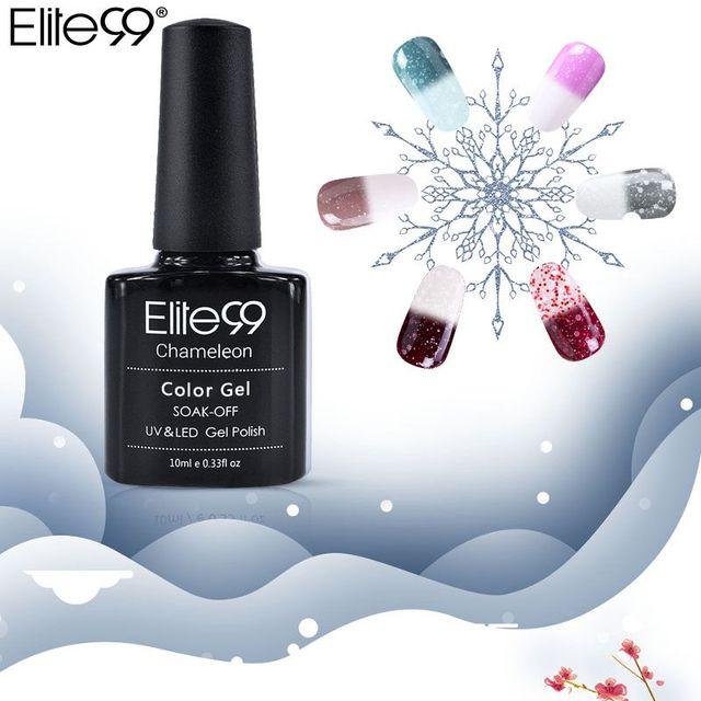 Elite99 10 ml Snowy Thermische Chameleon Nagel Gel Temperatur Ändern Farbe Gel Polnischen DIY Nail art Stimmung Lack Benötigen Basis top Mantel