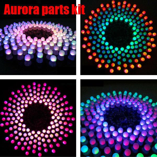 O Envio gratuito de Alta Qualidade DIY Aurora Kit RGB LED Piscando Kit Eletrônico kit de peças