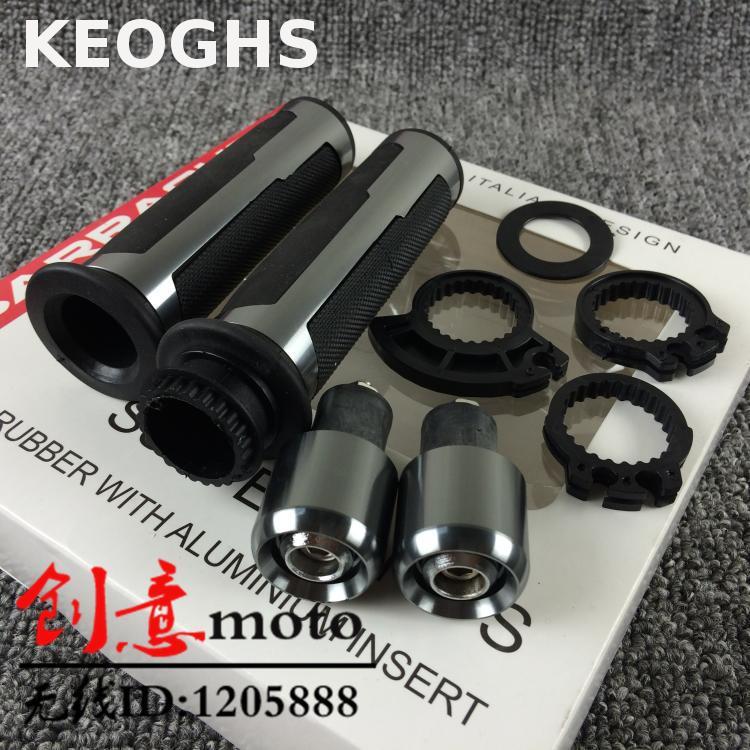 Keoghs Motorbike Grips/throttle Cnc Aluminum And Rubber For Yamaha Kawasaki Suzuki Scooter Dirt Bike Modify