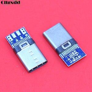 Cltgxdd DIY OTG USB 3.1 spawanie męska wtyczka wtyczka USB 3.1 typ C złącze z płytka drukowana wtyczki linia danych terminale dla androida