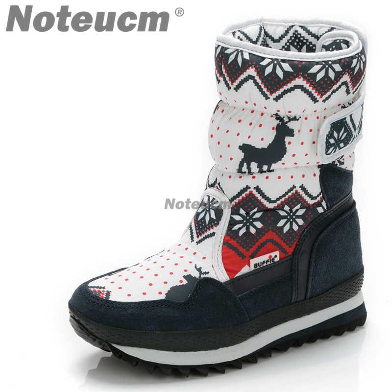 2018 female casual animal print winter warm white black fur women s snow  boots waterproof platform shoes e4fa2e23a842