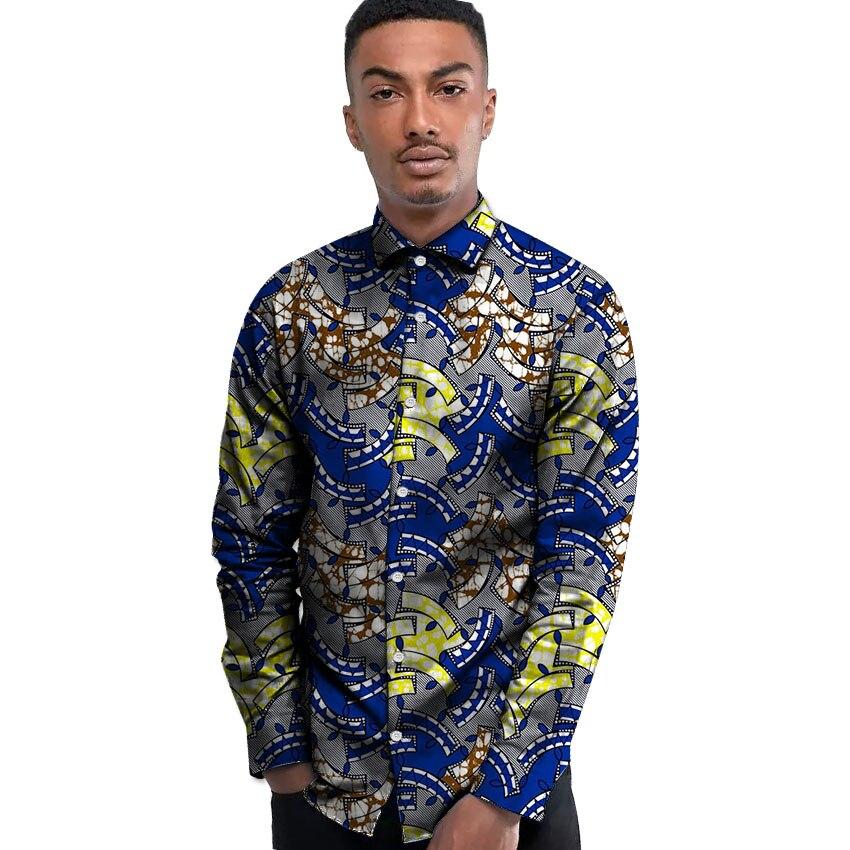 Fashion Men's African Dress Shirts Africa Festive Pattern ...