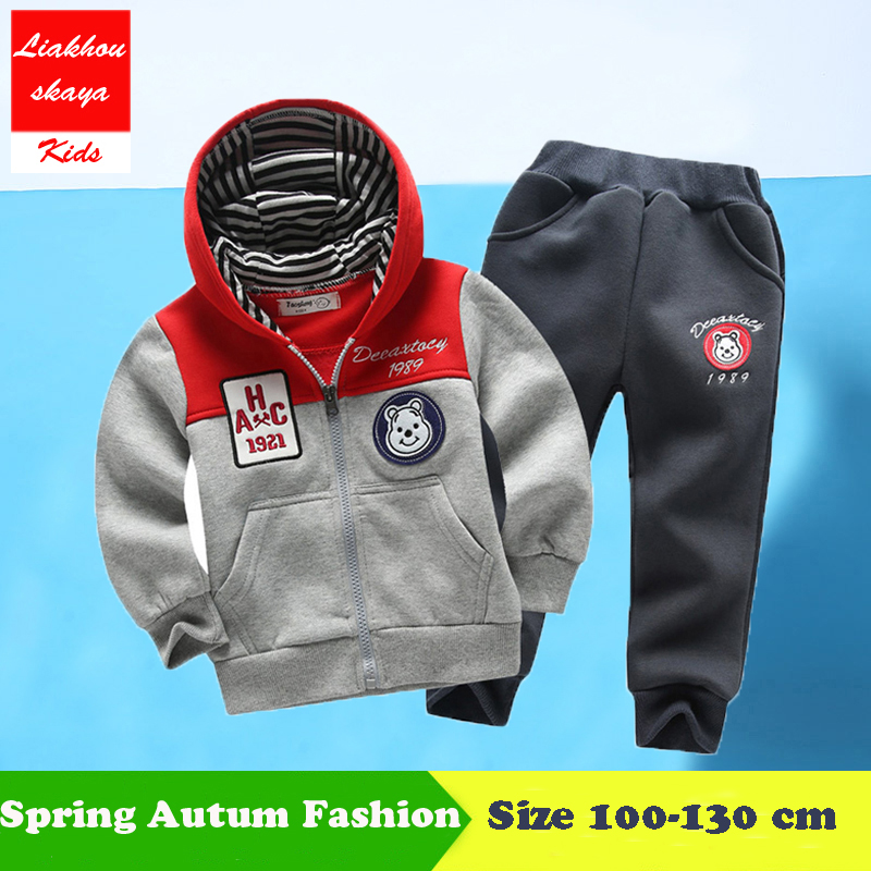 Liakhouskaya 2018 Spring Arrival Kids Clothes Boys Sports Suit Children Clothing Baby Boys Set Two Piece Boutique Kids Clothing two italian boys толстовка