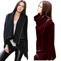 2016 New brand Fashion Women Long Sleeve Irregular Coat Trench Outwear Cardigan Coat Large plus size XXXL coats