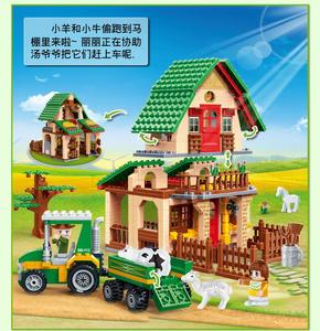 Image 2 - 8579 541 Pcs Banbao Happy Farm Building Block Toys 8579 Farmer Kids Educational Toys Gift DIY Bricks Compatible With Toys
