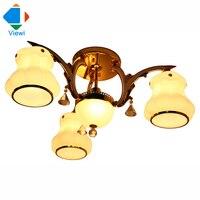 Free DHL Modern Led Glass Pendant Light Droplight 4pcs E27 Base Lampshade Decorative Pendant Lights