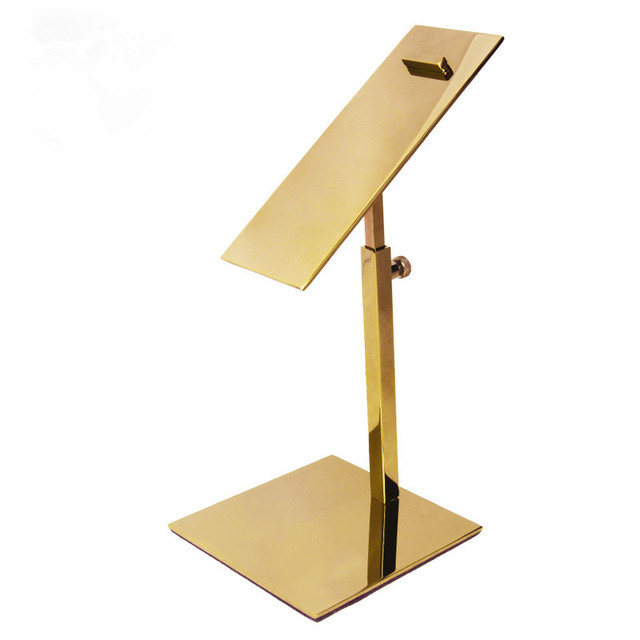 5pcs Lot Gold Luxury And Practical Stainless Shoe Display Stand Shelf Show Multi
