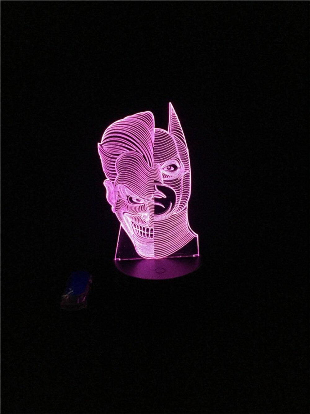 Luzes da Noite batman figura alterar cor luz Function 3 : Stage Lighting Effect/wedding Decor/house Decoration