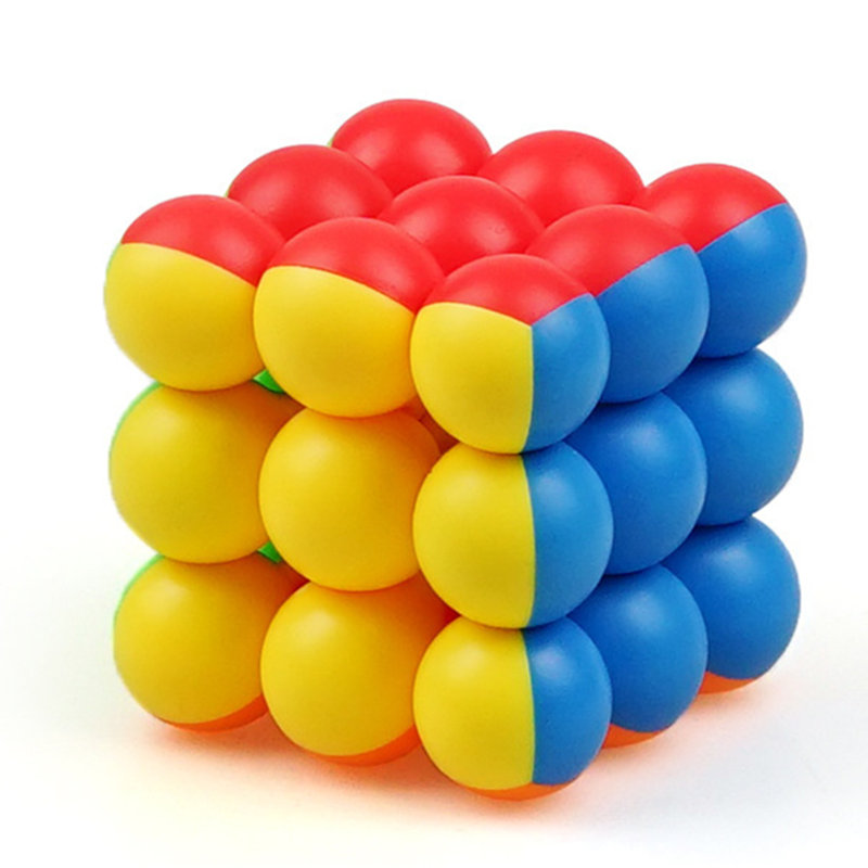 YJ Sphere Ball Cube 3x3x3 Magic Cube 3Layer Stickerless Smooth Professional Speed Quick Twist Cube Puzzle Toys For Children Cubo