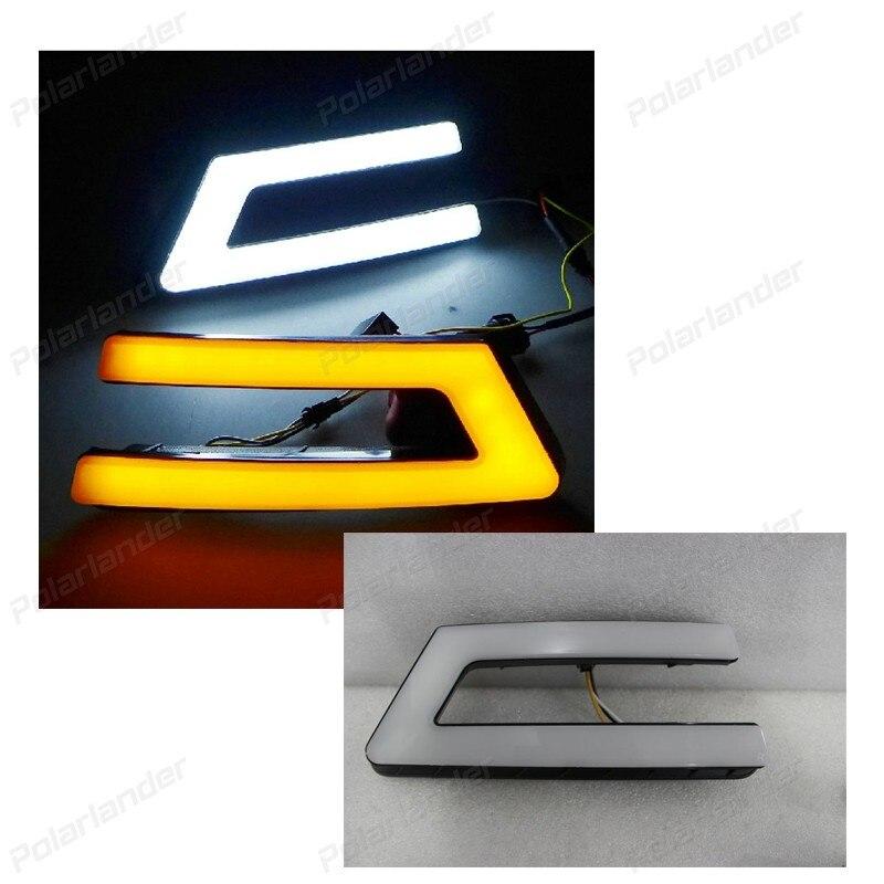 Turn signal 12V LED Car DRL daytime running lights for F/ord F/ocus 2012 2014