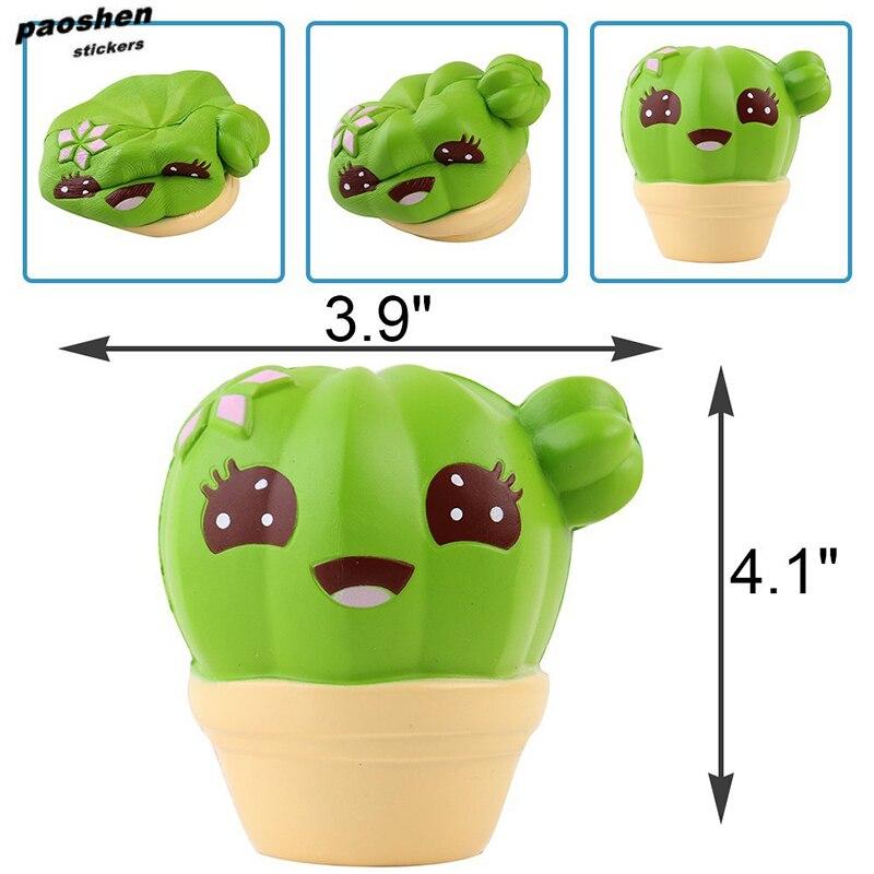 Kawaii Squishy Fun Cartoon Plant Cactus Toy Imitation Soft Slow Rebound Childrens Toys Anti-strss Squeeze Kids Gift