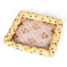 Venxuis 딸기 방수 개 침대 큰 여름 냉각 애완견 고양이 잠자는 매트 애완 동물 잠 냉각 인쇄 쿠션 침대 패드