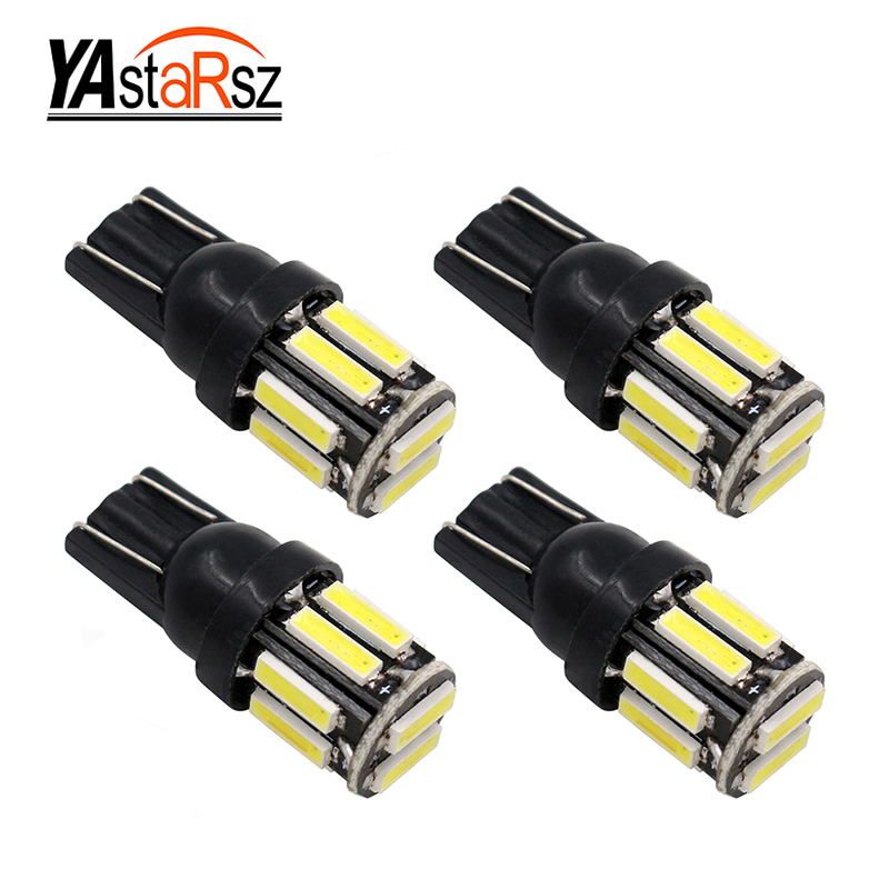 4PCS T10 7020 SMD LED W5W 194 168 2825 Wedge Replacement Reverse White Bulbs Signal Trunk Dashboard Lights Lamp New style carprie super drop ship new 2 x canbus error free white t10 5 smd 5050 w5w 194 16 interior led bulbs mar713