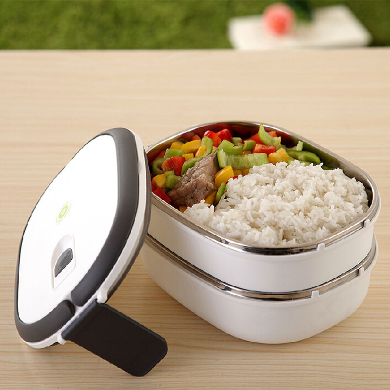 1400ml Bento Thermal insulation stainless steel dinnerware students food container fruit box