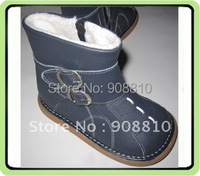 Baby Soft Leather Boots Boys Shoes Navy With Buckles 20prs A Lot Wholesale Retail Free Shipping