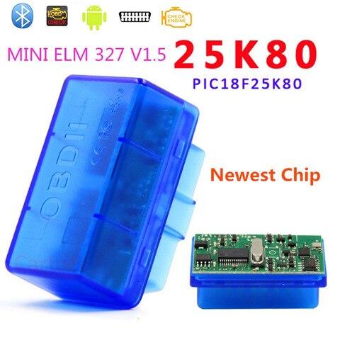 Top Quality PIC18F2580 chip Mini ELM327 Bluetooth OBD2 Car Scanner ELM327 V1.5 Automotive OBDII CAR Diagnostic Tool for Android Pakistan