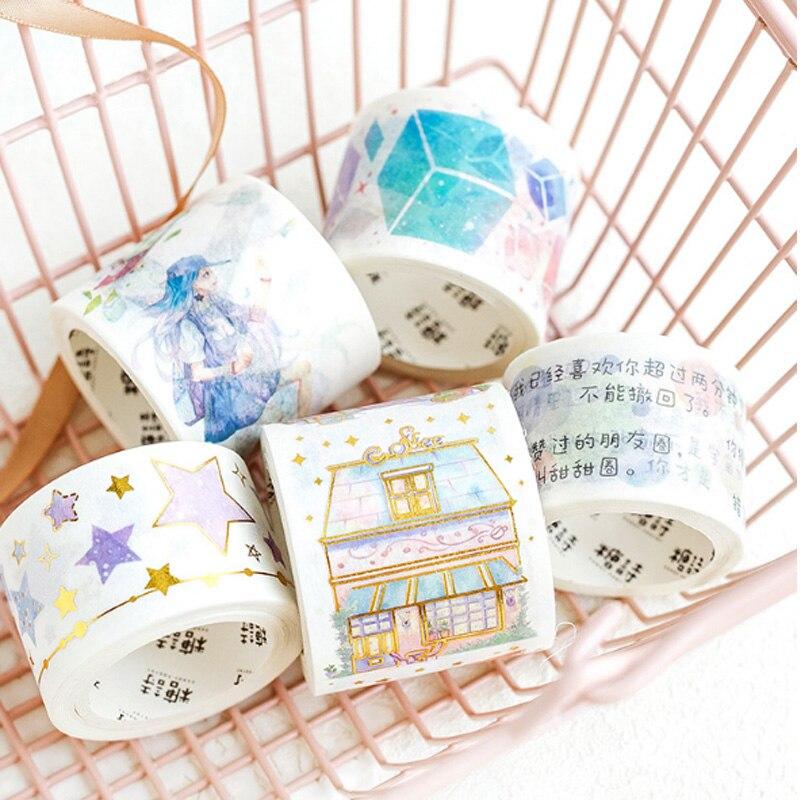 Sonderabschnitt 1x Skateboard Mädchen Serie Papier Band Dekoration Diy Masking Tape Büro Klebstoff Label Tape Aufkleber Schreibwaren Washi Band