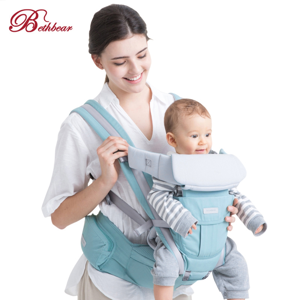 Bethbear 3 In 1 Hipseat Ergonomic Baby Carrier 0 - 36 Months Buckle Comfortable Mesh Wrap Infant Sling Backpack For Baby Kids
