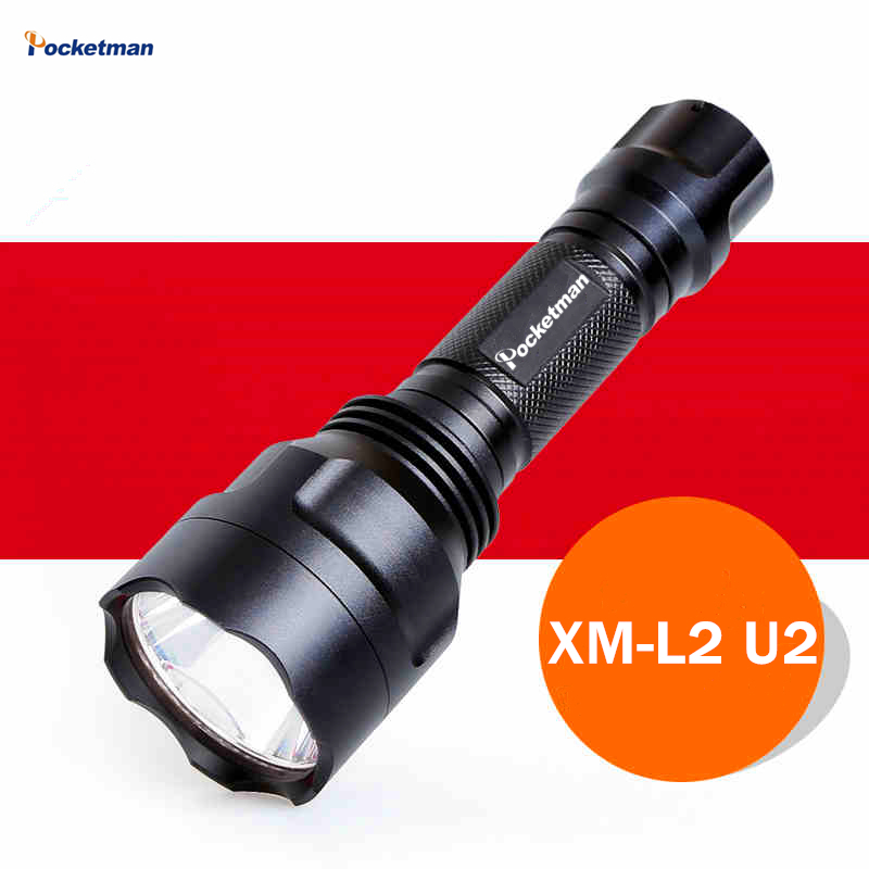 3800Lm XM-L2 Flashlight outdoor camping 5 modes led flashlight torch light lamp by 18650