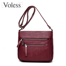 Mode Frauen Messenger Bags Designer Damen Umhängetaschen Pu-leder Handtasche Crossbody-tasche Für Frauen Doppel-reißverschluss Sac Ein Haupt