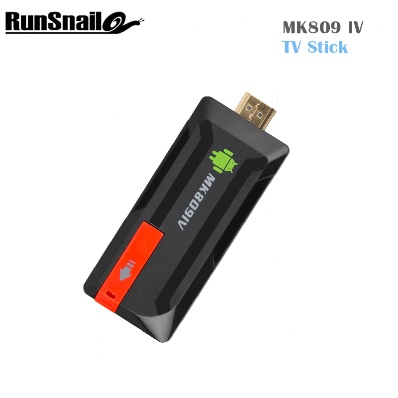 Android 5 1MK809 IV TV Stick RK3229 Quad Core Mail400 1G 8G WiFi Dongle 4K