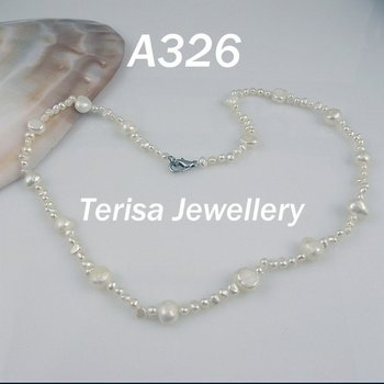 New Free Shipping A326#,New Mix Size Fresh Water Pearls Necklace 2-3mm/6-7MM 45cm(18inch)  Fashion Pearls Necklace.