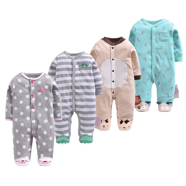 68c88fbba Baby Rompers 100% Cotton Toddler Girls Clothes Unisex Infant Full ...