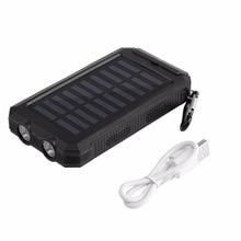 15000 мАч Водонепроницаемый прочный Портативный Солнечный Зарядное устройство Dual USB Батарея Запасные Аккумуляторы для телефонов с Компасы 2 светодиода для Открытый чрезвычайных
