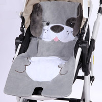 Cartoon Animal Baby Stroller Accessories Crystal Lint Pad Baby Stroller Pad Autumn winter Stroller Mat Eat chair cushion