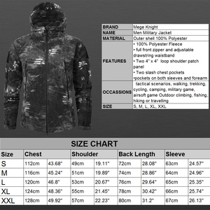 Image 5 - Mege Marke Herbst Winter Military Fleece Camouflage Taktischen männer Kleidung Polar Warme Multicam Armee Männer Mantel Outwear Hoodie
