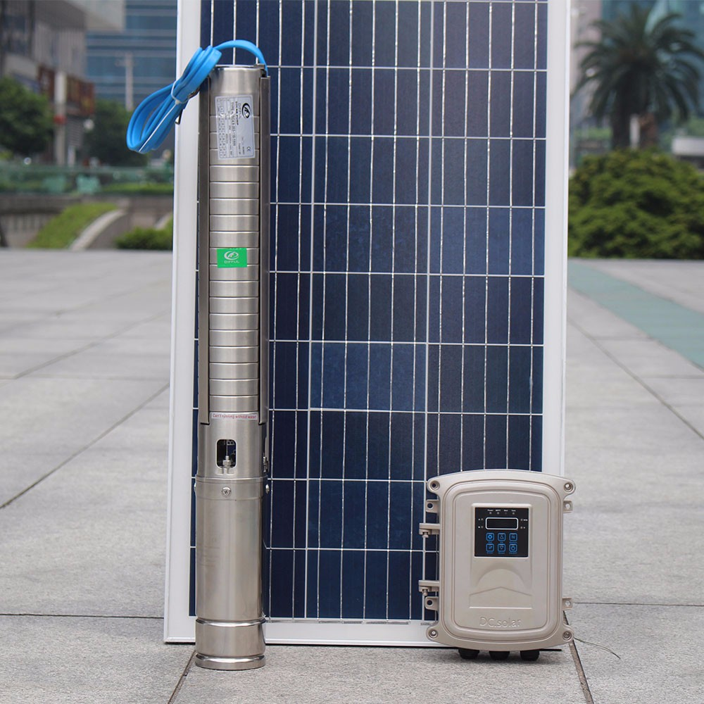 2 years warranty solar brushless water pump 101m high head solar water pump for agricultural irrigation