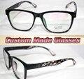 Черный большой кадр Леопарда ноги Близорукость очки Оптические На Заказ оптические линзы очки Для Чтения-1.00-6.0 или + 1.0 + 6.0