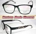Negro piernas Leopardo grandes gafas de marco gafas de Miopía Óptica Por Encargo lentes ópticas gafas de Lectura de 1.00 a 6.0 o 1.0 a + 6.0