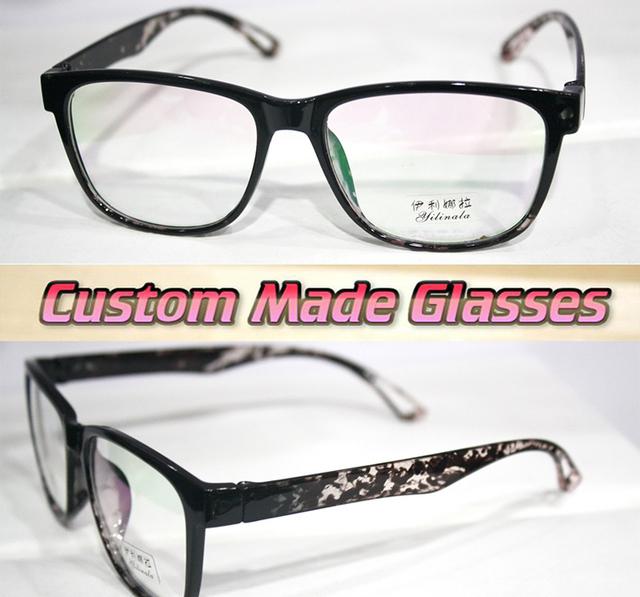 Preto big quadro pernas Leopardo Miopia óculos Ópticos Custom made lentes ópticas óculos de Leitura-1.00 a-6.0 ou + 1.0 para + 6.0