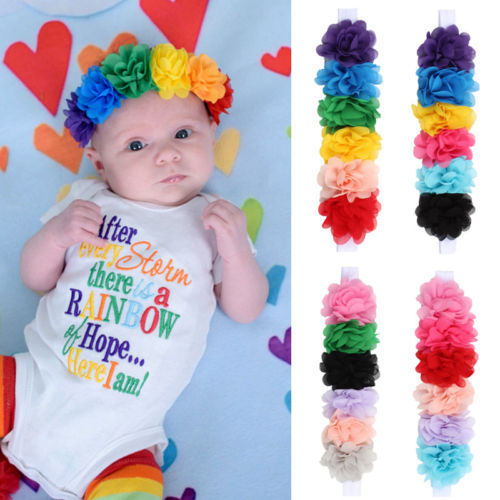 Cute Baby Girl Toddler Lace Flower Hair Band Headwear Baby Headband Accessories