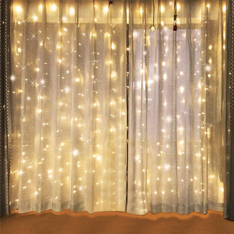 3x3/6x3M 300/600 LED Wedding Fairy Lights Christmas Garland LED Curtain String Light new year Birthday Party Garden Home Decor waterproof 5m 16ft led string ball lights curtain garland for fairy wedding garden new year outdoor christmas holiday decor