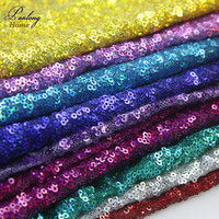 1*1.25M Sparkly 3MM sequin embroidered fabric for Tissue Kids Bedding textile for Sewing Tilda Doll, DIY Wedding materials Decor