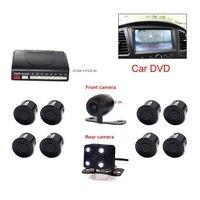 2 In 1 Car Video Parking Sensor Reverse Backup Radar Assist With 2 Cam Front Rear