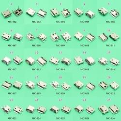 Chenghaoran 25 modelos 25 pçs/lote micro usb jack 5p 5pin usb conector de carregamento soquete smd dip v8 porto carregamento dados ficha alimentação