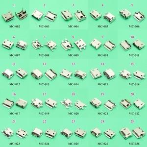 ChengHaoRan 25models 25pcs/lot Micro USB Jack 5P 5pin USB Charging Socket Connector SMD DIP V8 Port Charging Data power Plug