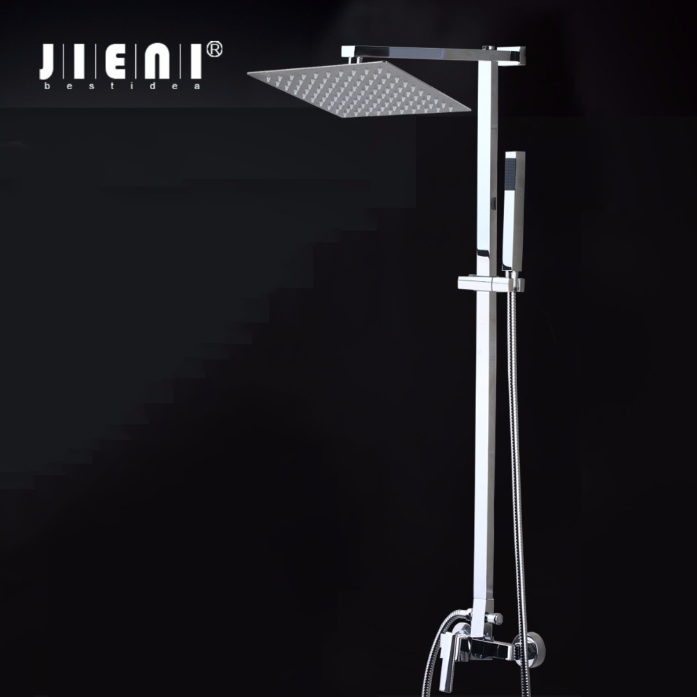 8 inch Square Stainless Steel Ultra-thin Shower heads  Rainfall Shower Head Rain Shower Not Includes Shower Arm стоимость