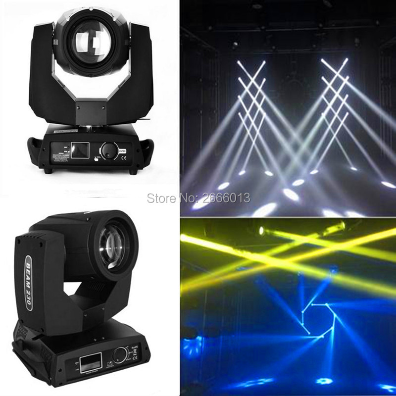2pcs Best quality 230w 7R beam moving head light touch screen DMX512 stage effect lights 230W spot light Bar disco dj lighting oct high with 230w beam moving head light large stage lights wedding 230 watt lamp bar
