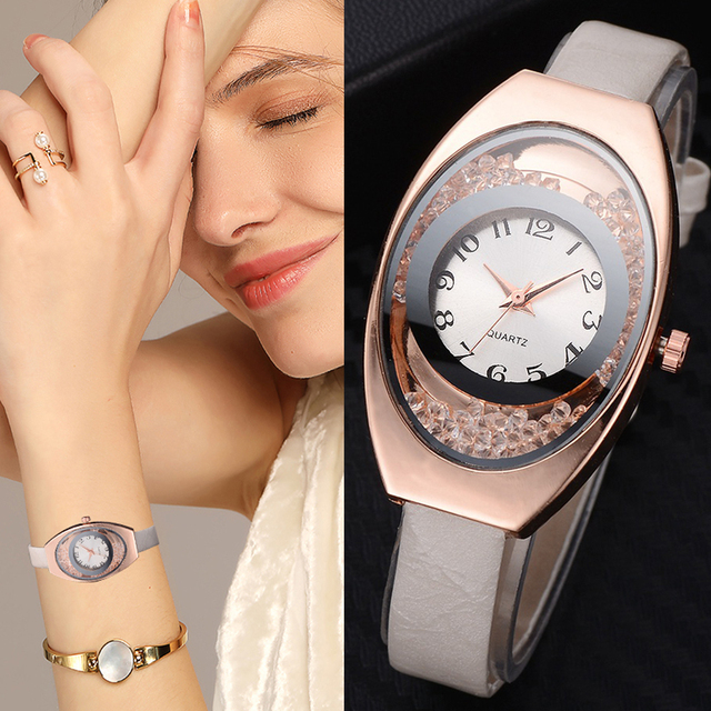 Leather Watches Women Luxury Top Brand Strap Dress Quartz Watch For Ladies Brace