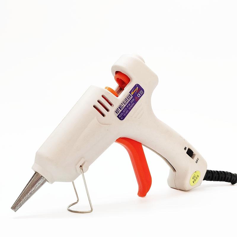 Термоклей пистолет ЕС plug, 20 Вт, 110-240 В для дома DIY клей пистолет плюс 12 шт. 7 мм Клей-карандаш, 1 шт./лот