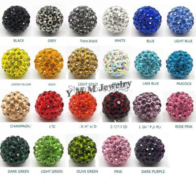 50pcs 10mm Red Clay Rhinestone Crystal Shamballa Beads Bracelet Diy Beads For Jewelry Making Round Pave Disco Ball Beads Beads