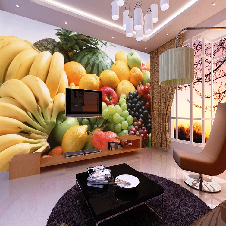 5d Banana Le Fruits Papel Murals Wall Mural Wallpaper For Dining Kitchen Room Background Photo Paper In Wallpapers From Home