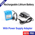 "Only Rechargeable Lithium Battery 12V 4.5A +Power Supply Used For 12 Hours Support  7"" TFT Color Underwater Fishing Camera"
